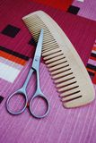 Scissors and comb Royalty Free Stock Photo