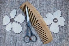 Scissors and comb Stock Photo