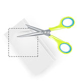 Scissors copy paste symbol Stock Photo