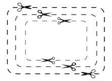 Scissors cut lines Stock Images