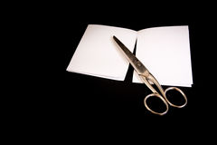 Scissors Cut Paper Game Victory Lost Black Isolated Background Metal Royalty Free Stock Images