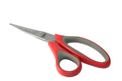 Scissors cut paper. For office supplies Royalty Free Stock Image