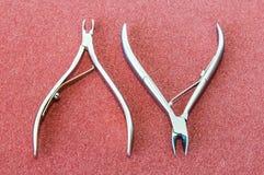 Scissors cut the skin Royalty Free Stock Photos