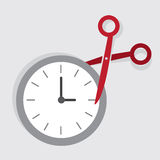 Scissors Cut Time Royalty Free Stock Images