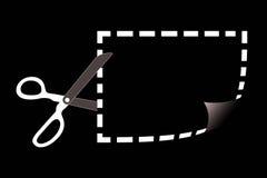 Scissors cutting coupon Stock Photo