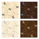 Scissors and dash line pattern vector set design Stock Photography