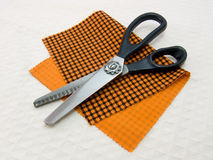Scissors of dressmaker for trimming of edge Stock Image