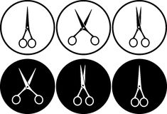 Scissors in frame Royalty Free Stock Images
