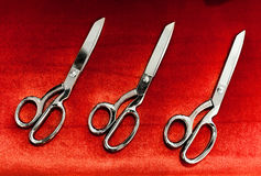 Scissors for the Grand Opening ceremony Royalty Free Stock Images