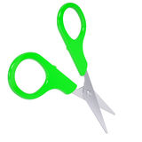 Scissors with green handles Royalty Free Stock Photography