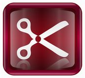 Scissors icon red Stock Photos