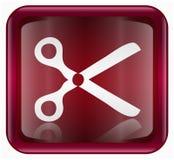 Scissors icon red Stock Photos