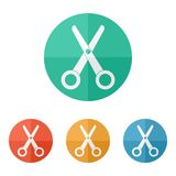 Scissors icon vector Stock Photos