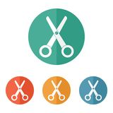 Scissors icon vector Stock Image