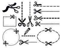 Scissors icons Royalty Free Stock Image