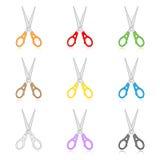 Scissors icons. Vector scissors icons. Simple change Stock Image