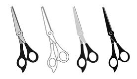 Scissors icons set Stock Photo