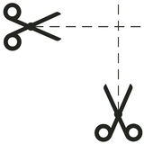 Scissors Ikonenvektorillustration Stockfotografie