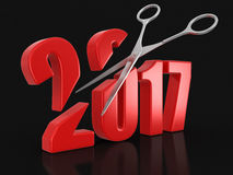 Scissors and 2017 Stock Photography
