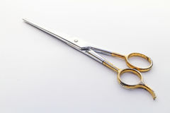 Scissors. An isolated vintage scissors on white background Stock Photography