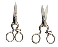 Scissors isolated on a white background  with clipping path. Royalty Free Stock Images