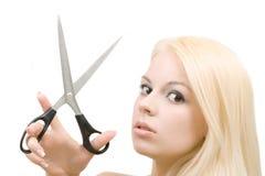 scissors kobiety Zdjęcie Stock