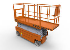 Scissors lift platform stock illustration