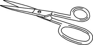 Scissors liten metall Arkivbilder