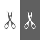Scissors o ícone ilustração stock
