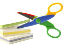 Scissors and paper Royalty Free Stock Image