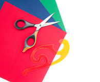 Scissors and Paper Stock Images