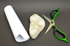 Scissors, paper, stone Royalty Free Stock Images