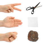 Scissors, paper, stone - hands Stock Photos
