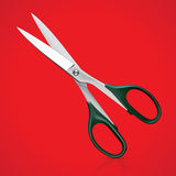 Scissors for patchwork on red background Royalty Free Stock Photos