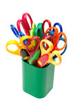 Scissors in pencil holder Stock Images