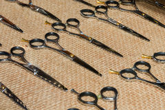 Scissors for professional hairdressers Royalty Free Stock Images