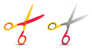 Scissors on red Royalty Free Stock Image