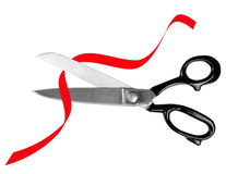 Scissors and red tape - administration, bureaucracy concept Royalty Free Stock Photo