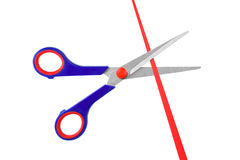 Scissors and ribbon Royalty Free Stock Image