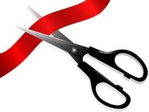 Scissors and ribbon stock illustration