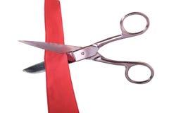 Scissors and ribbon Stock Photos
