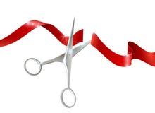 Scissors And Ribbon Realistic Illustration Stock Image