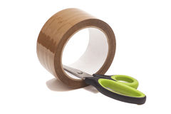 Scissors And Roll Of Duct Tape Stock Images