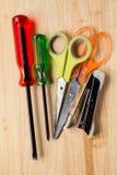 Scissors, screwdriver, Max stapler Stock Image