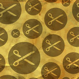 Scissors. Seamless pattern. Stock Photography