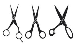 Scissors set Royalty Free Stock Image