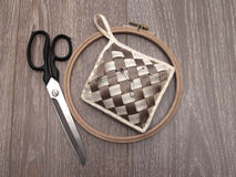 Scissors and a set for needlework Royalty Free Stock Photos