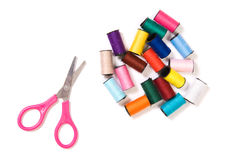 Scissors and sewing Stock Image