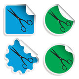 Scissors stickers Royalty Free Stock Photos