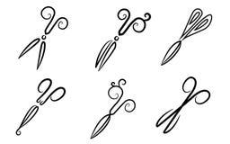 Scissors. stylization. Royalty Free Stock Photography